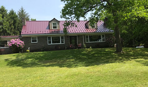 Wilkes Barre Scranton Metal Roof Installation Loc Seam Burgundy Metal Roofers